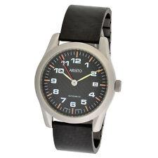 ARISTO Unisex Automatik Armbanduhr 3H45Car Carbon/Edelstahl 5ATM wasserdicht