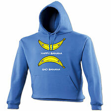 Happy Banana Sad Banana HOODIE hoody birthday gift smiley face ironic funny