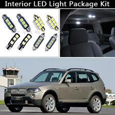 12PCS Canbus White LED Interior Lights Package kit Fit 2004-2010 BMW X3(E83) J1