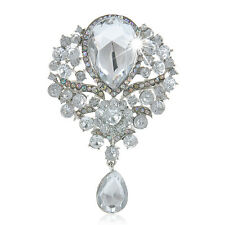 Fashion Jewelry Drop Pendant Rhinestone Brooches Women Charm Pin Badge Broach