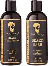 Beard Shampoo and Beard Conditioner Wash & Growth kit for Men Care - Softener &