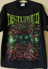 Disturbed Heavy Metal Concert T-Shirt - Size L - Hanes Heavyweight Tee