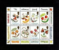 GUERNSEY - 1995 - GREETINGS - WELCOMING FACES - FLOWERS - FOOD + 8 X MINT SHEET!