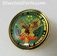 Department Of Veteran Affairs Lapel Pin Reflective Very Nice!
