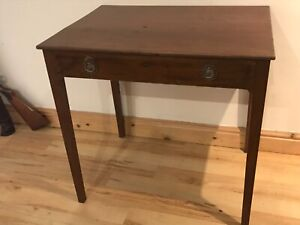 Georgian side table with long draw in mahogany