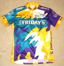 Sugoi Cycling Jerseys TGI Fridays 3/4 Zip 3 Pocket Short Sleeve Adult Size S