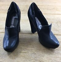 Calvin Klein Women's Black Shoes Size 8 Heels High Dressy Semi Rounded Toe Jamie