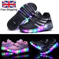Kids Children Boys Girls LED Light Up Luminous Sneakers Casual Trainers Shoes UK