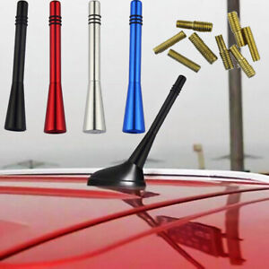 1x Car Auto Short Stubby Antenna Aerial AM FM Radio Mast Screw Type Universal