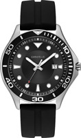 *BRAND NEW* Caravelle Men's Sport Black Dial Black Silicone Strap Watch 43B154