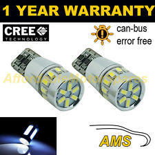 2x W5w T10 501 Canbus Error Free Blanco 18 Smd Led sidelight bombillas sl103103