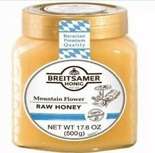 Breitsamer 100% Natural Mountain Flower Raw Honey Product Of Germany 17.6 Oz/500