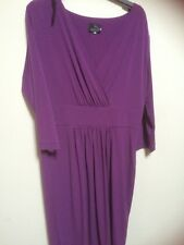 Madeleine Mock Wrap Top Dress Size 16 BNWOT