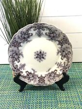 """ANTIQUE Royal Semi-Porcelain  By Wood & Sons England Plate 9"""" BLACK & GOLD"""