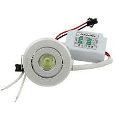 1x 1W 85~265V White LED Ceiling Down Light Cabinet lights Recessed Lamp #A