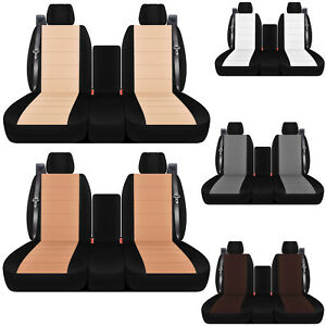 40-20-40 cotton two tone car seat covers INT SB  to fit 2003-2006 Silverado 1500