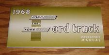 1968 Ford Truck F-100 thru F-350 Owners Operators Manual 68