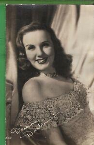 Vintage Photo RPPC Postcard Deanna Durbin movie star Universal Studios Fan 1945