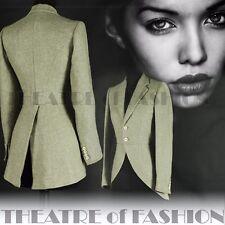 Vintage Ralph LAUREN veste tweed de soie Équitation Manteau Victorien - 8 10 12