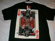 Darth Vader King Playing Cards Poker Jack Holdem Black T-shirt Men's Medium New