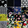 Soft Touch Jersey Knit Stretch Dress Fabric DTY Floral Flowers 148cm Wide