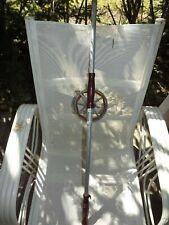 Vintage Goite Indiana Reel Spooled Mounted On Redi Rod 15' Telescoping