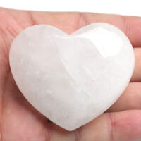 1PC Natural Carved Gemstone Clear Quartz Crystal Polish Heart shaped Paperweight