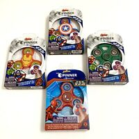 Marvel Avengers Fidget Spinners Captain America Hulk Iron Man Spiderman 4 Pack