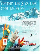 Publicité Advertising 108  1991   station ski 3 Vallées  JO Albertville Méribel