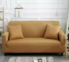 Elasticated Sofa Covers 1, 2 and 3 Seater Camel Color Universal 3x