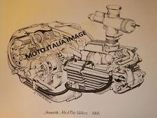 Aermacchi Harley Ala D'Oro CRTT  Cut-Away Engine Poster