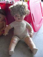 """BIG Vintage American Character Petite Composition Baby Girl Doll 23"""""""