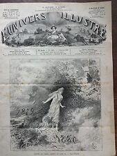 L'UNIVERS ILLUSTRE 1880 N 1293  L'ANNEE QUI VIENT,L'ANNEE QUI S'EN VA ! par RIOU