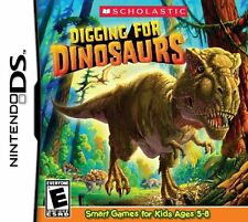 SCHOLASTIC DIGGING FOR DINOSAURS DS NEW! DSI, LITE, XL 3DS! LEARN, JURASSIC PARK