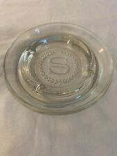 Vintage Sheraton Hotel Clear Glass Ashtray Collectibles