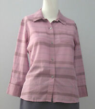 BANANA REPUBLIC Size S Purple Button-Down Collared 3/4 Sleeve Blouse