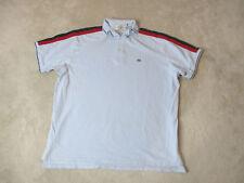 VINTAGE Ralph Lauren Polo Jeans Shirt Adult 2XL XXL Light Blue Red Flag Rugby