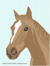 Crochet Pattern/Patterns - HORSE Graph/Chart Afghan Pattern