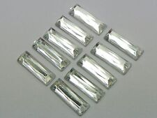 200 Clear Acrylic Flatback Rectangle Rhinestone Gems 5X15mm No Hole
