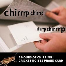 Chirping Cricket Noises Prank Card
