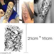 Removable Stickers Skull Roses Body Art Tatoo Temporary Arm Tattoos Waterproof