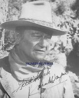 JOHN WAYNE THE DUKE SIGNED AUTOGRAPH 8x10 RP PHOTO CLASSIC COWBOY