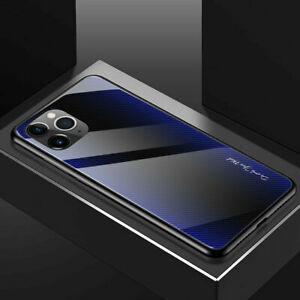 Hybird Tempered Glass Hard Phone Case For iPhone 12 13 Pro Max 11 XS XR 876 Plus