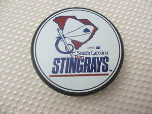 SOUTH CAROLINA STINGRAYS ECHL RARE VINTAGE OFFICIAL HOCKEY PUCK