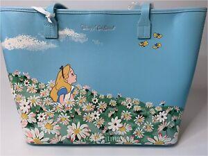 Cath Kidston X Disney Alice in Wonderland Meadow Blue Shopper Tote Handbag (NWT)