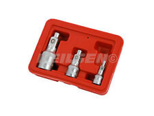 """Magnetic Socket Adaptor Set - 3pc 1/4 - 1/2 - 3/8"""" Drive - hold Nuts Bolts  3633"""