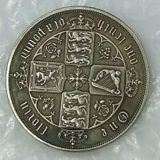 QUEEN VICTORIA FLORIN / TWO SHILLINGS -1877 ONE TENTH OF A POUND