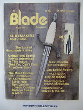 the Blade Magazine  August 1984  Jim Bowie Poetry/Most Profiles Ever