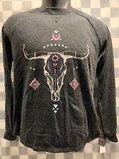 Steer Skull Southwestern Women's T-Shirt Size XS NEW NWT
