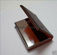 DECENT LEATHER BUSINESS NAME CARD/CREDIT/DEBIT/ID CARD HOLDER ( BROWN )